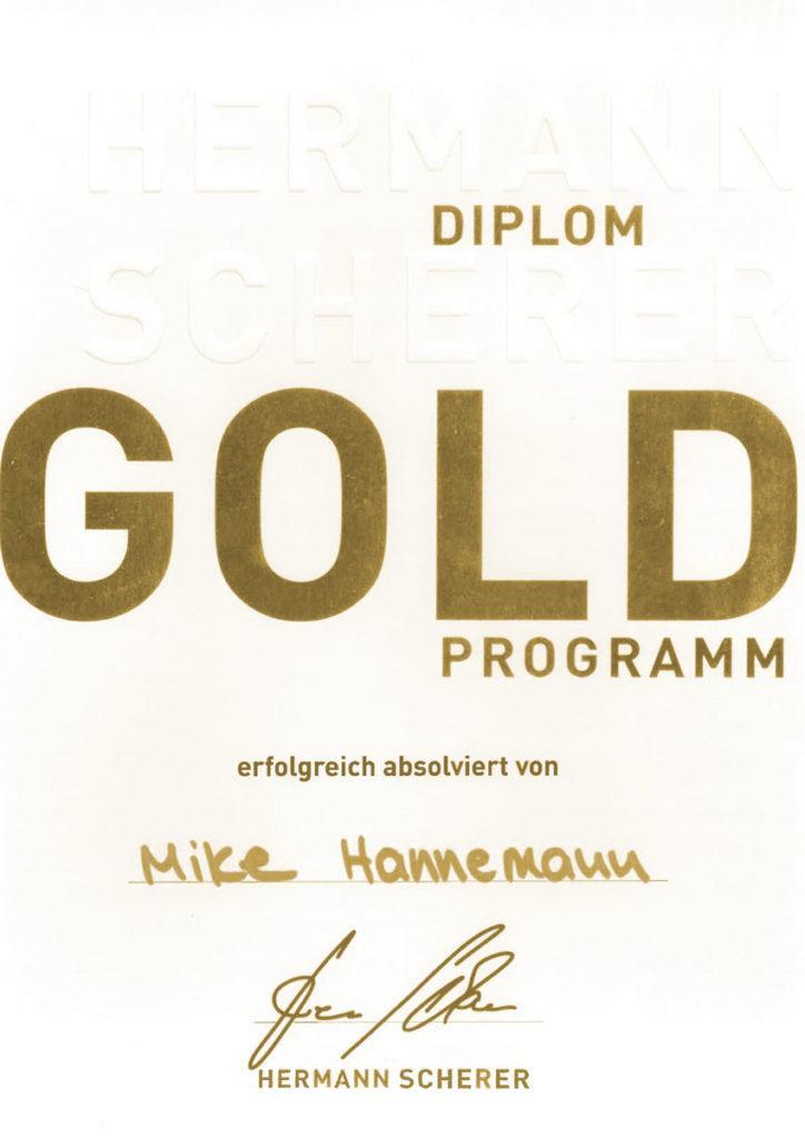 Scherer Gold Diplom