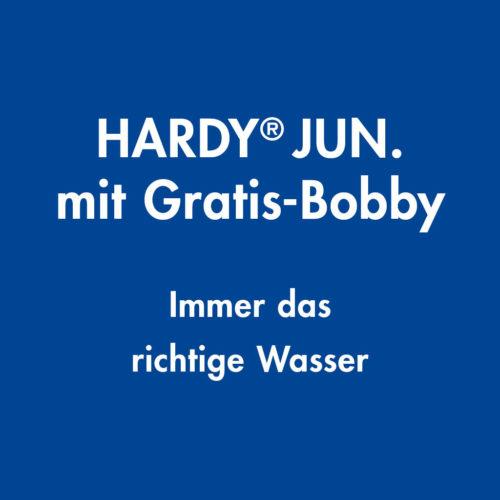 Hardy Jun mit Gratis-Bobby, Immer das richtige Heizungswasser, Hannemann Wassertechnik