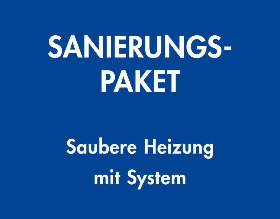 Sanierungspaket, Saubere Heizung mit System