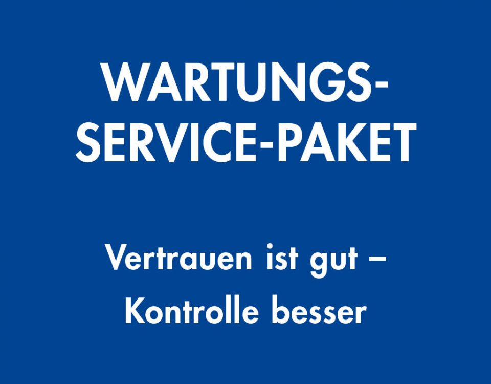 Wartung Service Paket, Normgerechtes Heizungswasser